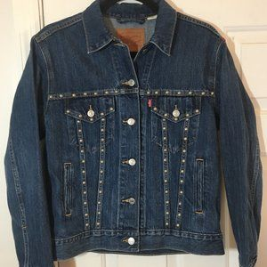 New Levi's Studded Denim Jean Jacket Ex-Boyfriend